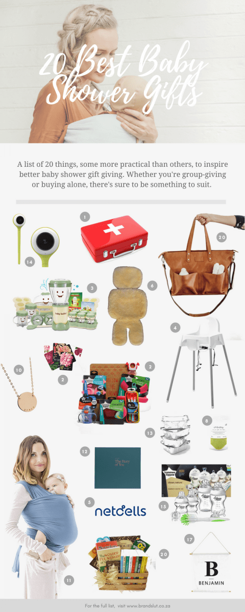 20 Best Baby Shower Gifts Infographic