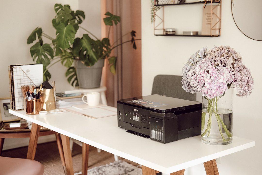 Epson Ecotank L7160 Printer On Desk