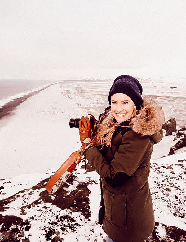 Misha Levin travelling and taking photographs in Iceland